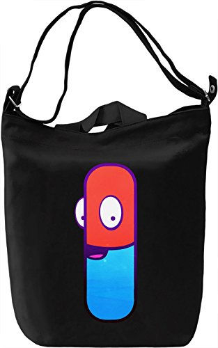 Happy Pill Borsa Giornaliera Canvas Canvas Day Bag| 100% Premium Cotton Canvas| DTG Printing|