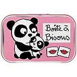 Boîte bisous Panda rose - Derrière la Porte