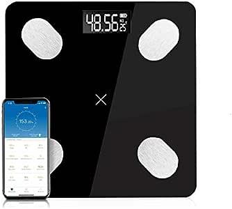AstiVita Digital Bluetooth Body Fat Scale with APP iOS/Android, BMI, BMR (BLACK)