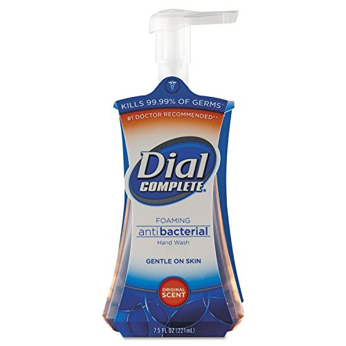 Dial Complete Antimicrobial Foaming Hand Soap, Original Scent Liquid, 7.5 oz Pump Bottle - Eight Pump Bottles. Dial Foaming Antimicrobial Soap