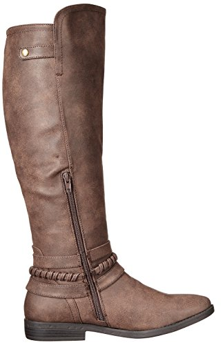 Rund Indap Dark Frauen Ram Brown Pumps Rampage Fashion Stiefel IwaAqOxC