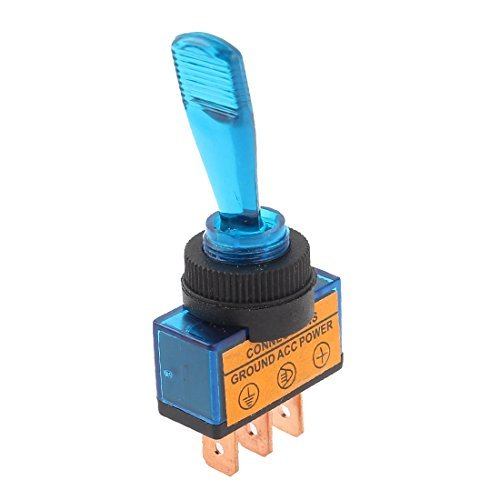 eDealMax DC 12V LED Bleue 2 Position ON/Off Voiture Bateau Camion Marine Interrupteur  Bascule