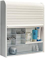 Primanova 092 Multipurpose Modern Wall Mounted Tambour Shutter Door Medicine Cabinet
