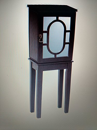 - Linon Kaila Jewelry Armoire in Black