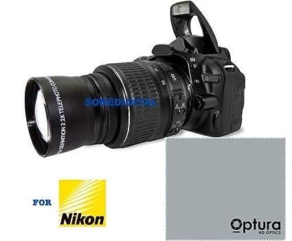 HD Sport Action 2X Tele Zoom Lente para Nikon D3200 D3000 D5300 ...