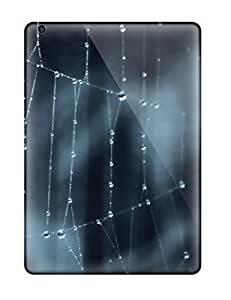 Flexible Tpu Back Case Cover For Ipad Air - Wet Spider Web