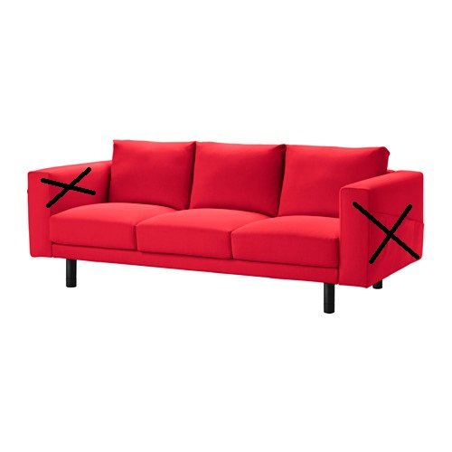 Amazon.com: IKEA Cover for Norsborg - Slipcover Only ...