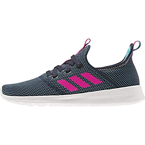 adidas Women's Cloudfoam Pure Running Shoe, Legend Ink/Shock Pink/Hi-Res Yellow, 10 Medium US (For Best Running Shoes)