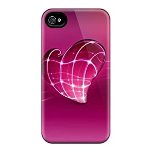 Iphone 4/4s Cases Slim [ultra Fit] 3d Love Heart Protective Cases Covers