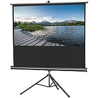 celexon 120 Tripod Projector Screen Tripod Economy, 96 x 72 inches viewing area, 4:3 format, White edition