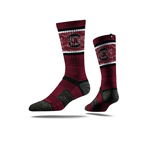 (Strideline NCAA South Carolina Fighting Gamecocks Premium Athletic Crew Socks, Maroon, One Size)