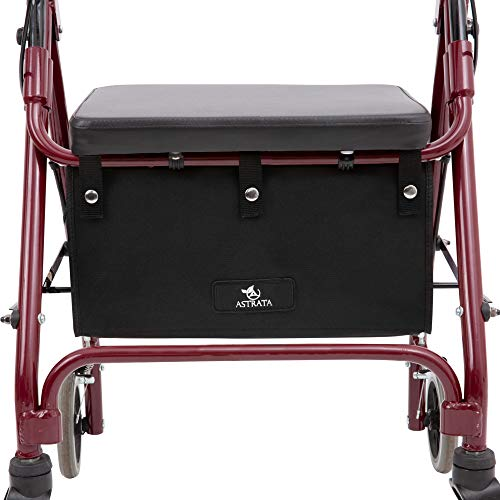 Storage Basket Underseat - Extra Large Walker Underseat Bag - Rollator Accessories - Under Seat Storage Pouch (Black)