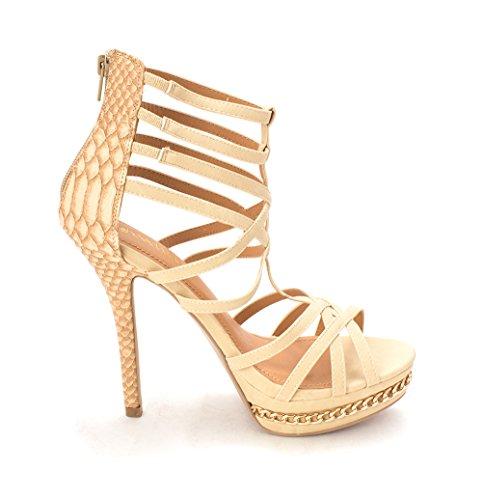 Talisha Kvinners Taupe Tå Uformell Shoedazzle Åpen Strappy Sandaler v8Rw5qS