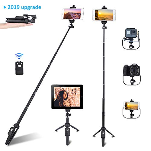 Selfie Stick, Professional Selfie Stick Tripod, 40-inch Extendable Selfie Stick with Wireless Remote and Tripod Stand for iPhone 6 7 8 X Plus,Samsung Galaxy Note 9/S9/Huawei/Honor and More (Best 6x9 Folding Camera)