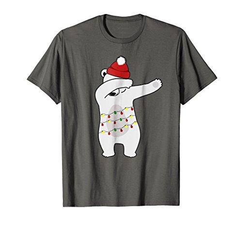 DABBING CHRISTMAS POLAR BEAR LIGHTS Funny X-MAS T Shirt Gift]()