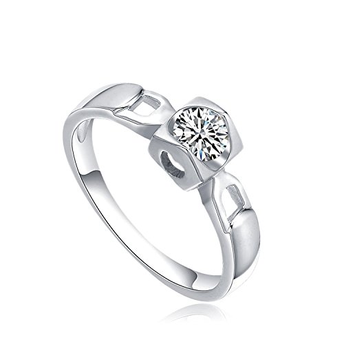 Star Harvest Women Fashion Jewelry with AAA Cubic Zircon Stones Sterling Silver Wedding Ring Size 7, Promise Rings for Couples by SH-STAR HARVEST