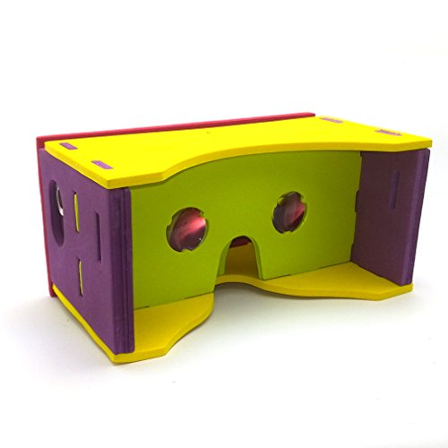 AKPOWER™ DIY Google Cardboard Valencia Quality 3d Vr Virtual Reality Glasses New with NFC and headband (EVA version)