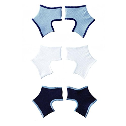 Sock Ons Clever Little Things That Keep Baby Socks On! 3 Pack - Navy, White, Baby Blue, 6 - 12 Months