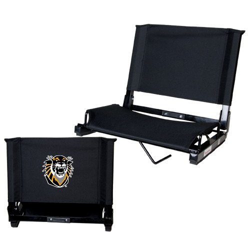 Fort Hays Stadium Chair Black 'Victor E. Tiger'