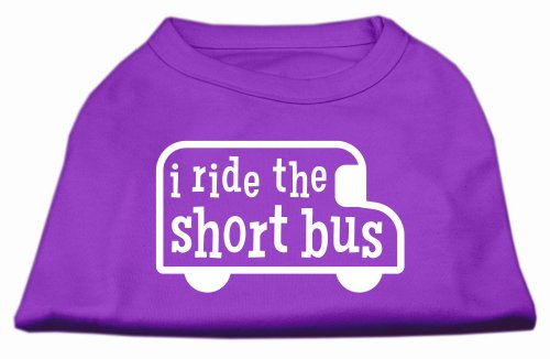 (I Ride The Short Bus Screen Print Shirt Purple Xxxl20)
