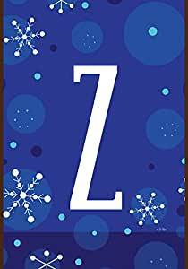 Toland Home Garden 1010193 Winter Snowflakes Monogram Z House Flag, Large-House, Multicolor