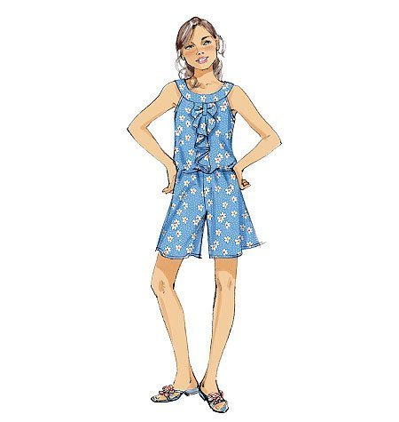 McCall Patterns M6677 Girls' Rompers and Dress Sewing Template, Size A (All Sizes in One Envelope) by McCall Patterns B00BQWM3VU