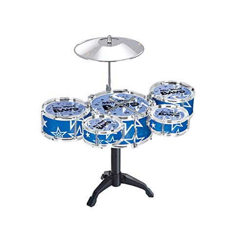 A-cool Girls Boys Practice Exercise Toy Drum Set Children Percussion Instrument Musical Early Childhood Toys Playset (Blue)