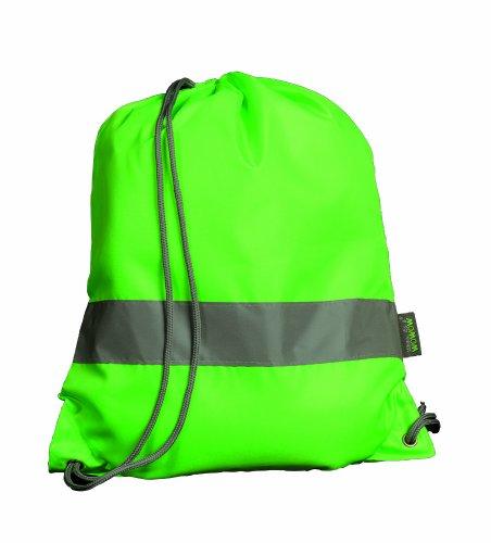 Wowow - Sacca sportiva, fluorescente, colore: Verde