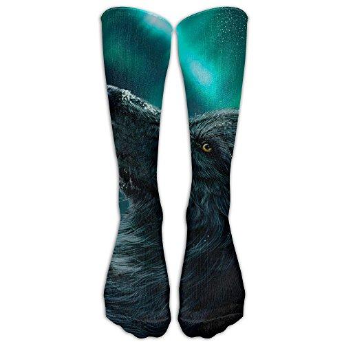 Wolf Aurora Polaris Colorful Novelty Calf Long Sock Crew Athletic Tube High Stockings - Sports Suits Australia