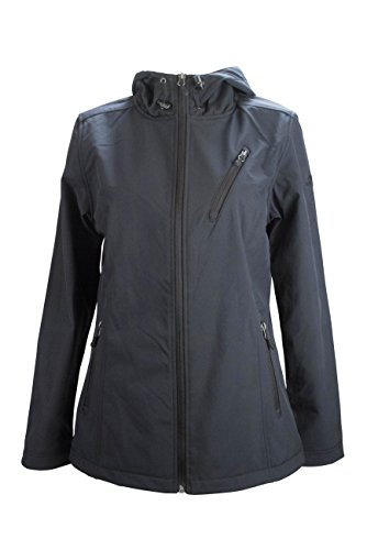 womens-pacific-trail-performance-soft-shell-jacket-with-hood-and-fleece-lining-black-size-m