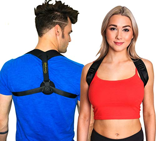Back Posture Corrector for Men and Women Very Comfortable Upper Brace for Clavicle Support and Providing Pain Relief for Neck,Back & Shoulder Discreet Design with Super Soft & Easily Adjustable