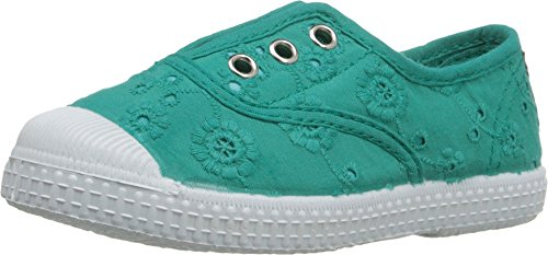 Cienta 70998 21/27 chica elástica zapatos verdes de tela sciangallo Verde