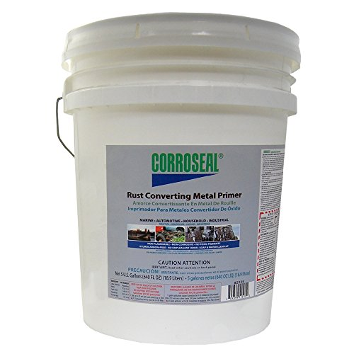 - Corroseal Water-Based Rust Converter Metal Primer, 5-Gallon, 82335