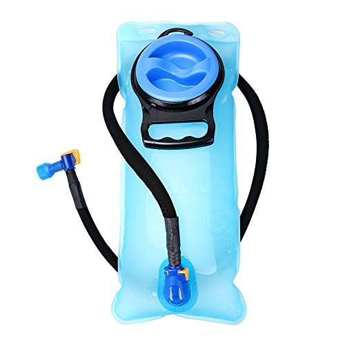 Hydration Bladder 70 oz / 2 Liter - Suitable for All kinds of Hydration Pack - Water Storage Bladder Bag - Water Reservoir Pack for 2L Hydration Backpack System (Blue, Blue 70 oz)