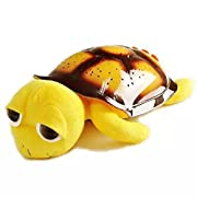 ZiMing L Big Eye Turtle Star Sky Musical Projection Night Light(Yellow)