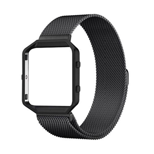 Sonmer Magnetic Stainless Steel Wrist Watch Band For Fitbit Blaze (E)