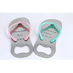 Flip Flop Sandal Bottle Opener - Bridesmaid Gift - Wedding