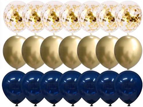 KESYOO 誕生日 飾り付け バルーン 風船 きらきらバルーン 紙吹雪 ラテックス バルーン 結婚式 誕生日 パーティー アクセサリー 50ピース
