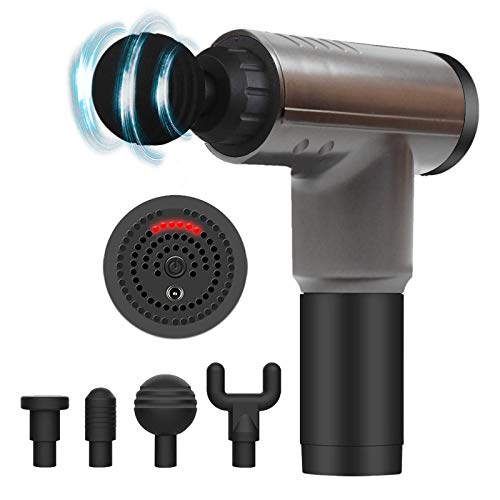 Massage Gun for Athletes ,Massagers Handheld Deep Tissue Percussion Muscle Massager for Sore Muscle and Stiffness,Portable Quiet Brushless Motor,Includes 4 Massage Heads (Bright Black)