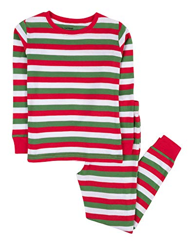 Leveret Red & White Green 2 Piece Pajama (8 Years)