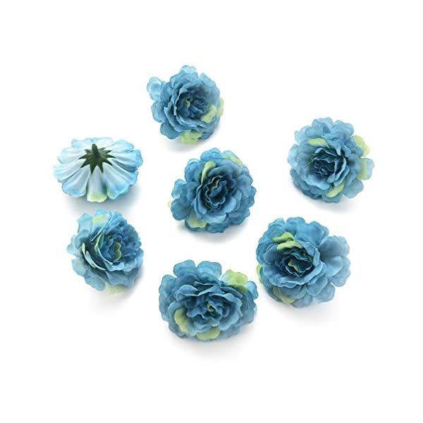 Flower heads in bulk wholesale for Crafts Silk Peony Rose Artificial Flower Heads Wedding Home Furnishings DIY Wreath Handicrafts Fake Flowers Party Birthday Home Decor 30pcs 4.5cm (Colorful)