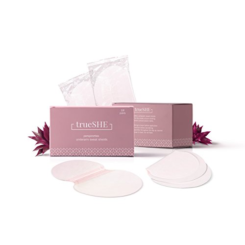 Perspirettes Underarm Sweat Pads for Women (18 pairs/36 pieces). Sticks to Clothes, Stops Sweat Stains and Body Odor. Great with Deodorant, Fresh Wipes, Hyperhidrosis Treatment
