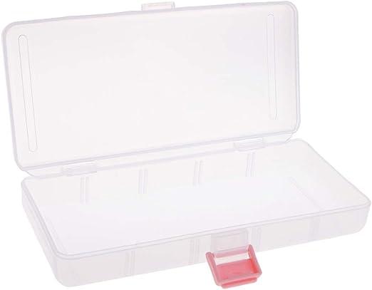 P Prettyia Caja de Herramientas de Joyería de Vidrio Titular de Caja de Almacenamiento Organizador,Componentes Electrónicos: Amazon.es: Hogar