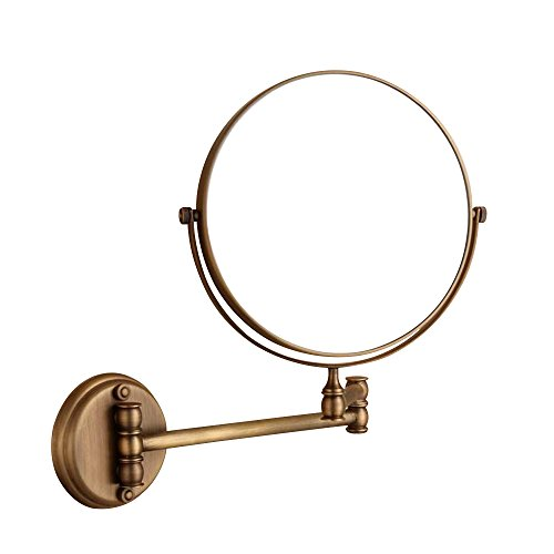 8 inch Wall Mount Makeup Mirror, 3x Magnifying Mirror Two-Sided Vanity Mirror, Extension Mirror Magnifiers for Makeup on Bedroom, (First Class Wall Mount)