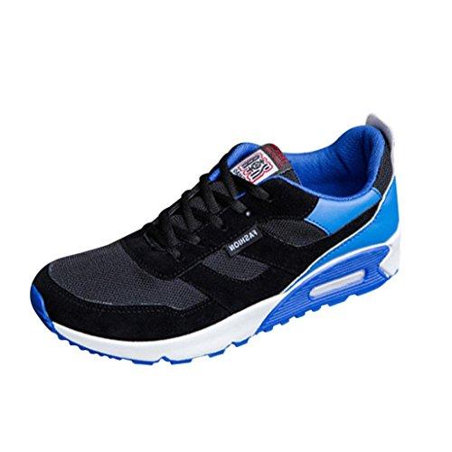 Trainer Sportschuhe Bovake Casual Travel Leisure Schuhe Schuhe Sneakers Sneakers Jogging Lauf Leichte Niedriger Fitness Schnür Lässige Hundred Knöchel Mode Blau Gymnastik Men's TO4wTdqxr