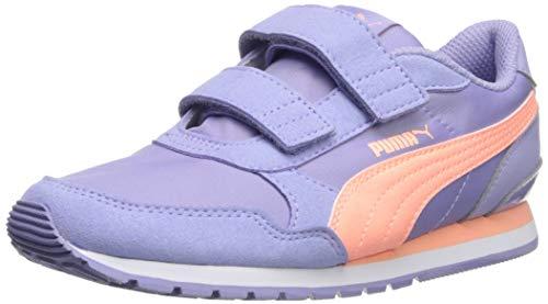 PUMA Unisex Kid's ST Runner Velcro Sneaker, sweetlavender-brightpeach-White, 2 M US Little Kid