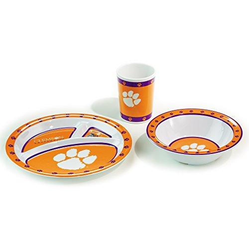 Tigers College Logo Mug - Official NCAA - 3-Piece Children's Dish Set - Clemson Tigers