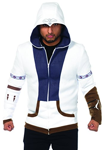 Leg Avenue Men's Assassins Creed Connor Officially Licensed Hoodie Costume, Multi, (Assassins Creed Connor Adult Mens Costumes)