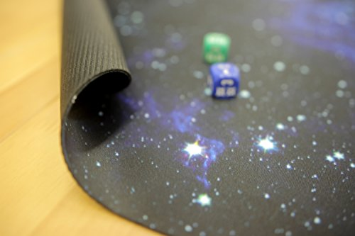 Blue Nebula Wargaming Play Mat – 36x36 Inch Table Top Roleplaying and Miniature Battle Game Mat Great for Warhammer 40k Star Wars Minis Warmachine Polyester with Anti-Slip Rubber Backing by Inked Playmats (Image #3)