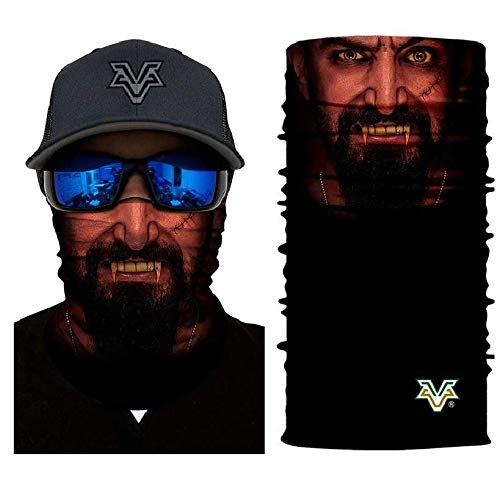 3D Vampire Face Tube Neck Face Scarf Lower Half Face Mask Motorcycle Bicycle Shield Sun Air Soft Outdoor Biker Riding Masks No.159 ()